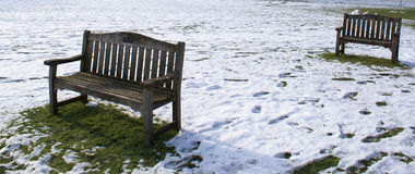 Benches in Downing College Stock Image