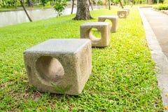 Benches in the garden Royalty Free Stock Photos