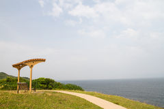 Benches Grass Island in Hong Kong Stock Photo