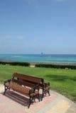 benches havet Royaltyfria Bilder