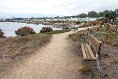 Benches, Hiking, walking running, and biking on beautiful seaside trails Stock Photography