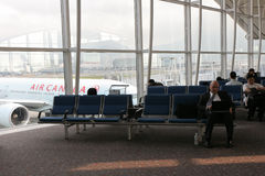 Benches in Hongkong Airport Stock Image