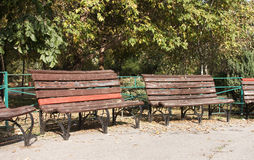 Benches - RAW format Royalty Free Stock Photos