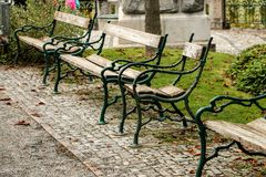 Benches. For one or more Royalty Free Stock Photo