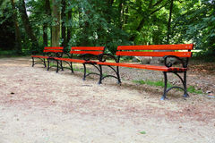 Benches in Park Stock Photography
