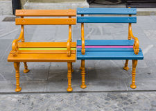 Benches on the park Royalty Free Stock Images