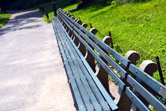 Benches in the park. Benches in the central park Royalty Free Stock Photo