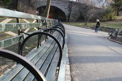 Benches in a Park Royalty Free Stock Images