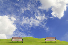 Benches in the park Stock Photos