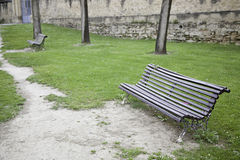 Benches in park Royalty Free Stock Images