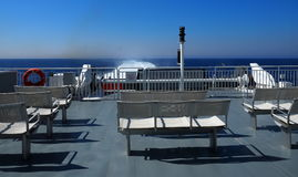Benches On Passenger And Vehicle Ferry Royalty Free Stock Photos
