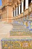 Benches of  Plaza de Espa?a, Sevilla, Spain Stock Photography