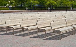 Benches in a Row Stock Photography