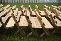 Benches in a row Royalty Free Stock Images
