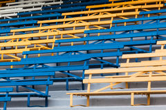 Benches Seating Steps Colors Public Royalty Free Stock Photography