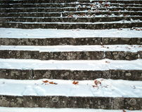 benches staden räknad stads- vinter för liggandesnowtrees arkivfoton