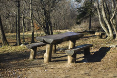 Benches and table Royalty Free Stock Photography