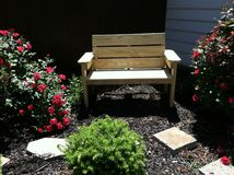 benches trä Royaltyfri Foto