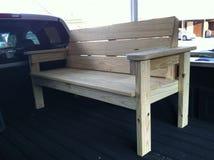 benches trä Arkivfoto