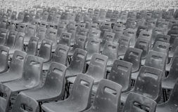 Benches at the vatican. In a row Royalty Free Stock Photo