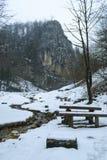 Solomon stones in winter, Brasov, Romania Royalty Free Stock Images