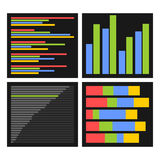 Benchmark Bars and Indicators Set. Vector Royalty Free Stock Images