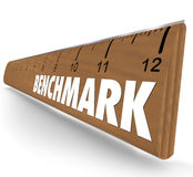 Benchmark Ruler Word Measure Difference Between Companies Compar Royalty Free Stock Photos