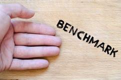 Benchmark text concept royalty free stock photo