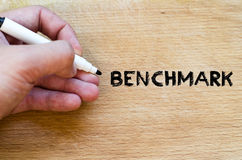 Benchmark text concept stock image