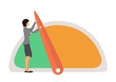 Benchmarking concept illustration Royalty Free Stock Photos
