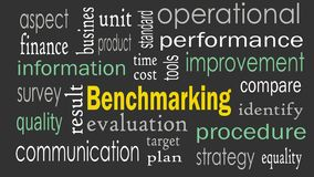 Benchmarking concept word cloud background royalty free stock images