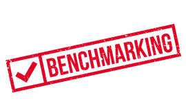Benchmarking rubber stamp Stock Photo