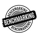 Benchmarking rubber stamp Royalty Free Stock Photos