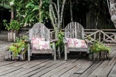 Benchs do jardim Fotografia de Stock Royalty Free