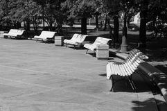 Benchs no parque Imagem de Stock Royalty Free