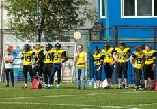 Benchwarmers of Raiders52 team stock image