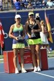 Bencic Belinda and Halep Simona (1) Royalty Free Stock Image
