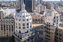 Bencich Building Dome aerial view - Buenos Aires, Argentina. Bencich Building Dome aerial view in Buenos Aires, Argentina stock photos