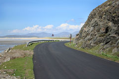 Bend In Coastal Road Royalty Free Stock Photography