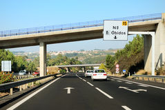 Bend of highway with bridges Royalty Free Stock Photos