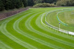 Bend on a Horse Racetrack. A sharp bend on a horse race course royalty free stock photography