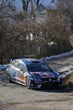 Mikkelsen in a bend of the mountain Stock Photos
