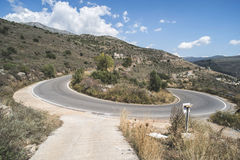 Bend in the mountain road Royalty Free Stock Photography