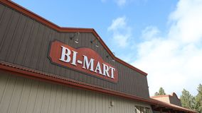 Bi-Mart, Convenience store in Bend, Oregon. Bend, Oregon - Oct 29, 2018 : Bi-Mart, Convenience store in Bend, Oregon, United states royalty free stock photography