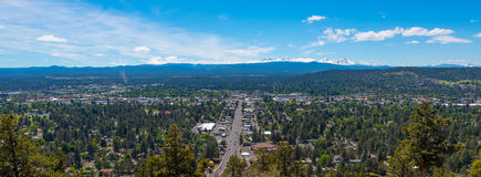 Bend, Oregon. A panorama of Bend from Pilot Butte State Park royalty free stock images