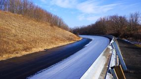 A bend on the race track raab ring stock image