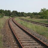 Bend in Railway tracks Stock Image