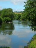 Bend in the river. Where the river bends framed by trees Stock Photo