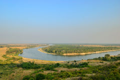 Bend of the river Don in steppe Stock Photos