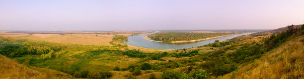 Bend of the river Don in steppe Stock Photography